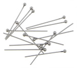 Stainless Steel Ball Head Pin, original color, 2x24mm, 0.6mm, 1000PCs/Bag, Sold By Bag