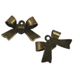 Zinc Alloy Pendants, Bowknot, antique bronze color plated, nickel, lead & cadmium free, 11x16mm, Hole:Approx 2mm, 1200PCs/Bag, Sold By Bag
