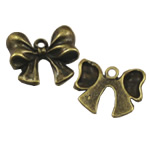 Zinc Alloy Pendants, Bowknot, antique bronze color plated, nickel, lead & cadmium free, 16x18mm, Hole:Approx 2mm, 100PCs/Bag, Sold By Bag