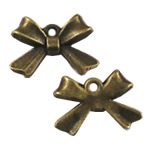 Zinc Alloy Bowknot Pendants, antique bronze color plated, nickel, lead & cadmium free, 10x14mm, Hole:Approx 2mm, 500PCs/Bag, Sold By Bag