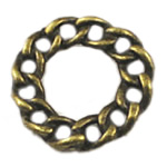 Zinc Alloy Linking Ring, Rolo, antique bronze color plated, nickel, lead & cadmium free, 20x20mm, 400PCs/Bag, Sold By Bag