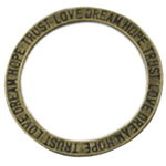 Zinc Alloy Linking Ring, Round, antique bronze color plated, nickel, lead & cadmium free, 20x20mm, 700PCs/Bag, Sold By Bag