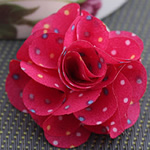 Fashion Decoration Flowers, Cloth, red, 45x45mm, 80PCs/Lot, Sold By Lot