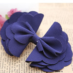Fashion Decoration Flowers, Cloth, Bowknot, purple, 100x70mm, 60PCs/Lot, Sold By Lot