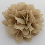 Fashion Decoration Flowers, Spun Silk, deep yellow, 90x90mm, 40PCs/Lot, Sold By Lot