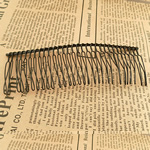 Zinc Alloy Decorative Hair Comb, painted, black, nickel, lead & cadmium free, 110x38mm, 120PCs/Lot, Sold By Lot