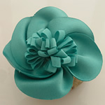 Fashion Decoration Flowers, Cloth, jungle green, 55x55mm, 80PCs/Lot, Sold By Lot
