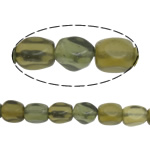 Fashion Glass Beads, tan, 10x7-8mm, Hole:Approx 1mm, Approx 37PCs/Strand, Sold Per Approx 15 Inch Strand