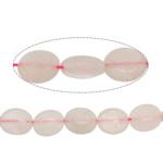 Perles Quartz Rose naturel, ovale plat, 11x9x5mm, Trou:Environ 1.2mm, Environ 38PC/brin, Vendu par Environ 15.5 pouce brin