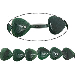 Natural Jade Beads, Jade Malaysia, Heart, 25x25x6.50mm, Hole:Approx 2mm, Approx 16PCs/Strand, Sold Per Approx 15 Inch Strand