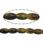 Natural Tiger Eye Beads, Oval, 12x8mm, Hole:Approx 1.3mm, Approx 31PCs/Strand, Sold Per Approx 15.5 Inch Strand