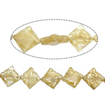 Coffee Stone Beads, Rhombus, 27x27x6mm, Hole:Approx 1.5mm, Approx 15PCs/Strand, Sold Per Approx 15 Inch Strand