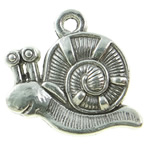 Zinc Alloy Animal Pendants, Snail, antique silver color plated, lead & cadmium free, 16x17x3mm, Hole:Approx 1.8mm, Approx 475PCs/KG, Sold By KG