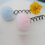 Feather Hair Stick, with Zinc Alloy, painted, mixed colors, 75x30mm, 70PCs/Lot, Sold By Lot