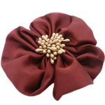 Fashion Decoration Flowers, Chiffon, with Plastic, dark red, 100x100mm, 30PCs/Lot, Sold By Lot