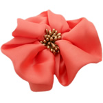 Fashion Decoration Flowers, Chiffon, with Plastic, light red, 100x100mm, 30PCs/Lot, Sold By Lot