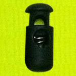 Plastic Spring Stopper, black, 19x8mm, Hole:Approx 4.5mm, 300PCs/Lot, Sold By Lot