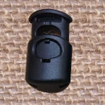Plastic Spring Stopper, black, 26x15mm, Hole:Approx 6x8mm, 200PCs/Lot, Sold By Lot