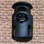 Plastic Spring Stopper, black, 27x15mm, Hole:Approx 5x8mm, 200PCs/Lot, Sold By Lot