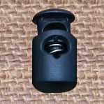 Plastic Spring Stopper, navy blue, 27x15mm, Hole:Approx 5x8mm, 300PCs/Lot, Sold By Lot