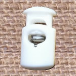 Plastic Spring Stopper, white, 27x15mm, Hole:Approx 5x8mm, 300PCs/Lot, Sold By Lot