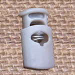 Plastic Spring Stopper, grey, 27x15mm, Hole:Approx 5x8mm, 300PCs/Lot, Sold By Lot