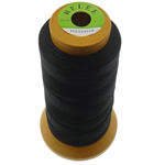 Nylon Thread, with plastic spool, without elastic, 4-yarn, black, 0.25mm, Length:700 m, 10PCs/Lot, Sold By Lot