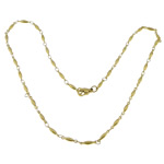Stainless Steel Chain Necklace, 316L Stainless Steel, gold color plated, oval chain, 11x2.50x2.50mm, Length:17.5 Inch, 20Strands/Lot, Sold By Lot