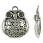 Zinc Alloy Pendant Rhinestone Setting, Animal, antique silver color plated, lead & cadmium free, 19.50x23x3.50mm, Hole:Approx 3mm, Approx 400PCs/KG, Sold By KG