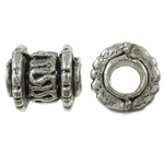 Zinc Alloy Jewelry Beads, antique silver color plated, nickel, lead & cadmium free, 8x7mm, Hole:Approx 3.3mm, Approx 1425PCs/Bag, Sold By Bag