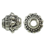 Zinc Alloy Jewelry Beads, Bicone, antique silver color plated, lead & cadmium free, 7.30x6.50mm, Hole:Approx 2mm, Approx 1425PCs/Bag, Sold By Bag