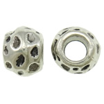 Zinc Alloy Jewelry Beads, Drum, antique silver color plated, lead & cadmium free, 14x10mm, Hole:Approx 6.5mm, Approx 185PCs/KG, Sold By KG