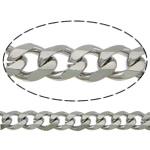 Łańcucha krawężnika ze stali nierdzewnej, Stal nierdzewna, łańcucha krawężnika, oryginalny kolor, 4.5x3.5x1mm, długość:100 m, sprzedane przez wiele