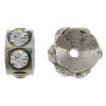 Ruostumaton teräs Välike helmiä, Rondelli, tekojalokivi, alkuperäinen väri, 3x5.50mm, Reikä:N. 0.8mm, 100PC/laukku, Myymät laukku