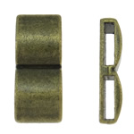Zinc Alloy Spacer Bar, Rectangle, antique bronze color plated, 2-strand, nickel, lead & cadmium free, 11x25x6mm, Hole:Approx 10x2.5mm, Approx 205PCs/KG, Sold By KG