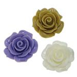 Koraliki z żywicy, żywica, Kwiat, mieszane kolory, 19x19x12mm, otwór:około 2mm, 500komputery/torba, sprzedane przez torba