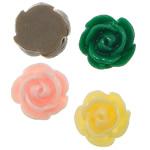 Koraliki z żywicy, żywica, Kwiat, mieszane kolory, 13x13x6mm, otwór:około 1mm, 500komputery/torba, sprzedane przez torba