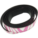 Leather Cord, 18x2mm, Length:Approx 20 m, 20Strands/Bag, Sold By Bag