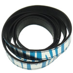Leather Cord, 15x2mm, Length:Approx 20 m, 20Strands/Bag, Sold By Bag