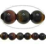 Natural Tiger Eye Beads, Round, Grade A, 6mm, Hole:Approx 0.8mm, Length:Approx 15 Inch, 5Strands/Lot, Approx 60PCs/PC, Sold By Lot