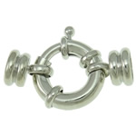Brass Spring Ring Clasp, platinum color plated, single-strand, nickel, lead & cadmium free, 31x21x9mm, Hole:Approx 7mm, 20PCs/Bag, Sold By Bag