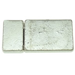 Zinc Alloy Magnetic Clasp, Rectangle, antique silver color plated, nickel, lead & cadmium free, 14x30x6mm, Hole:Approx 9.5x2.5mm, 20PCs/Bag, Sold By Bag