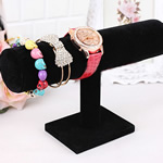Velveteen Bracelet Display, PVC Plastic, with Velveteen, black, 230x140x50mm, 10PCs/Lot, Sold By Lot