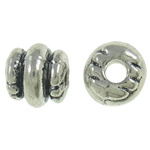 Zinc Alloy Jewelry Beads antique silver color plated nickel lead   cadmium free 6x6mm Hole:Approx 2mm Approx 1250PCs/KG