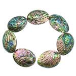 Koraliki Abalone, Muszla Abalone, Łezka, 47-61x33-42x13-22mm, otwór:około 1mm, długość:16.5 cal, 2nici/wiele, 7/Strand, sprzedane przez wiele