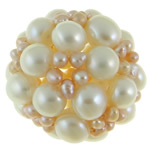 Ball Cluster Cultured Pearl Beads, Freshwater Pearl, Round, 34mm, Sold By PC