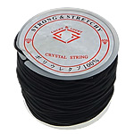 Elastic Thread, with plastic spool, black, 1.30mm, Length:25 m, 20PCs/Lot, Sold By Lot