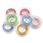 Elastic Thread, with plastic spool, mixed colors, 0.50mm, Length:100 m, 5PCs/Lot, Sold By Lot