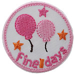 Iron on Patches, Cloth, Round, 40mm, 100PCs/Bag, Sold By Bag