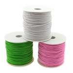 Elastic Thread, South Korea Imported, mixed colors, 1mm, Length:700 m, 10PCs/Lot, 70m/PC, Sold By Lot